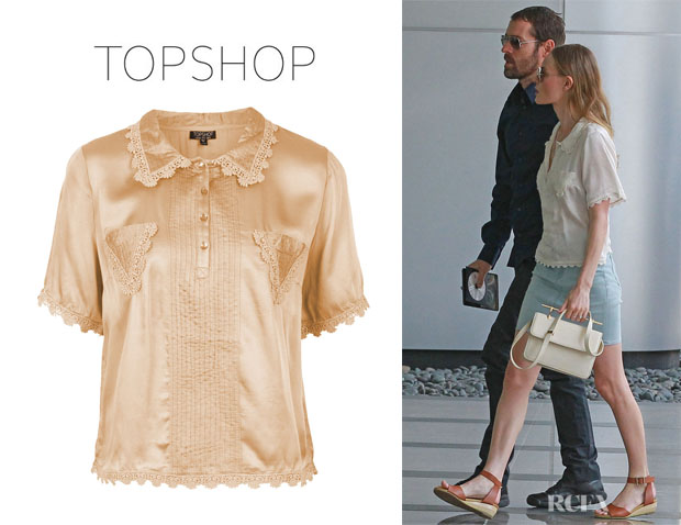 Kate Bosworth's Topshop Pocket Trim Blouse