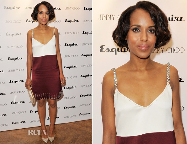 Kerry Washington In Marc Jacobs - Jimmy Choo & Esquire Party