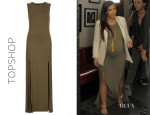 Kim Kardashian's Topshop Double Slit Maxi Dress