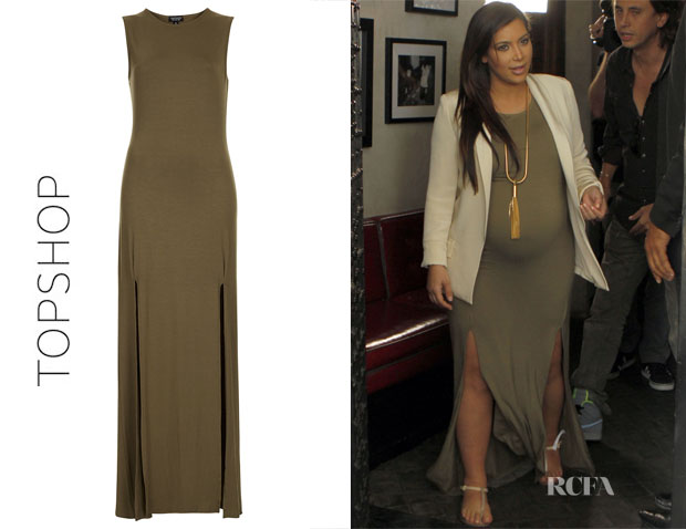 Kim Kardashian's Topshop Double Slit Dress