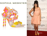Kourtney Kardashian's Sophia Webster Yayoi Patent-Leather and Suede Sandals