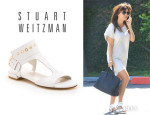 Kourtney Kardashian's Stuart Weitzman 'Cuffy' Sandals
