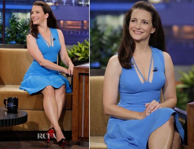 Kristin Davis In Antonio Berardi - The Tonight Show with Jay Leno