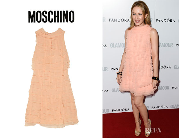 Kylie Minogue's Moschino Ruffled Mousseline Dress
