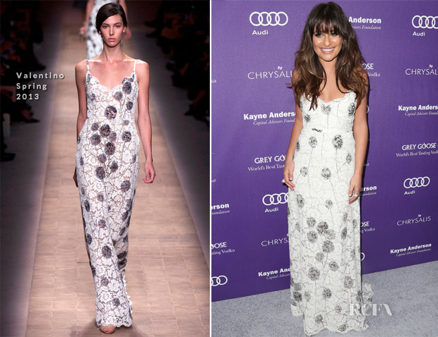 Lea Michele In Valentino - 12th Annual Chrysalis Butterfly Ball