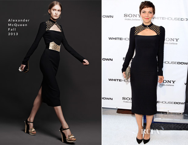 Maggie Gyllenhaal In Alexander McQueen - 'White House Down' Washington DC Premiere