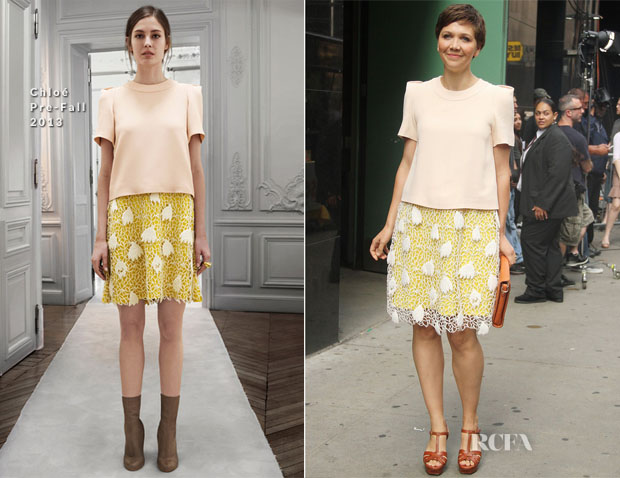 Maggie Gyllenhaal In Chloé - Good Morning America