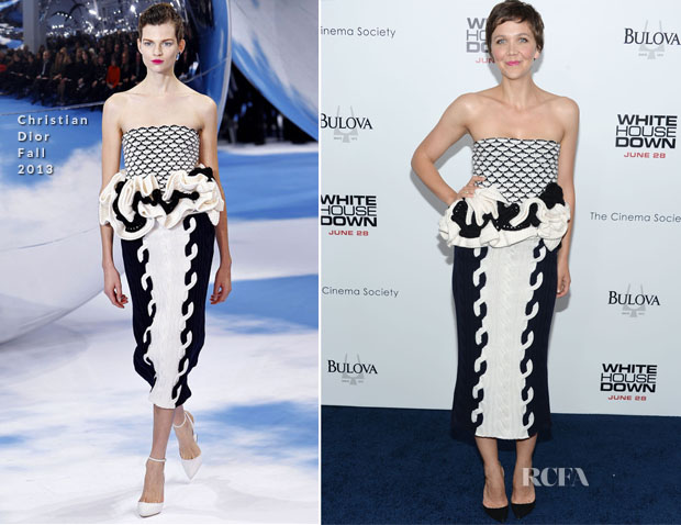 Maggie Gyllenhaal In Christian Dior - 'White House Down' New York Premiere