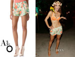 Maria Menounos' Alice + Olivia Butterfly Shorts