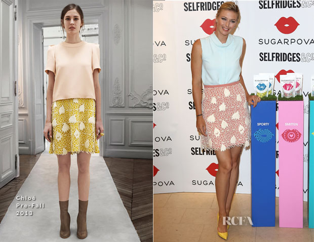 Maria Sharapova In Chloé - 'Sugapova' Candy Collection Selfridges Launch