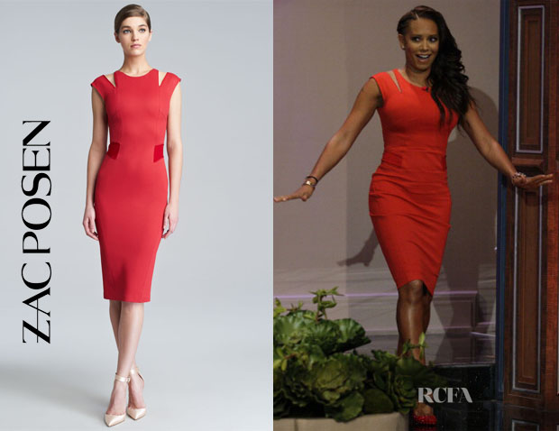 Mel B's Zac Posen Red Cut-Out Dress