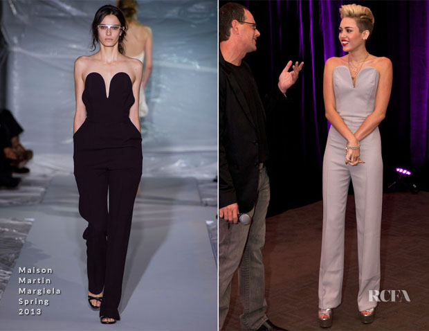 Miley Cyrus In Maison Martin Margiela - Album Listening Party