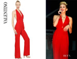 Miley Cyrus' Valentino 'Cady' Jumpsuit