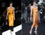 Milla Jovovich In Armani Privé - Giorgio Armani Hosts 'One Night Only' Roma
