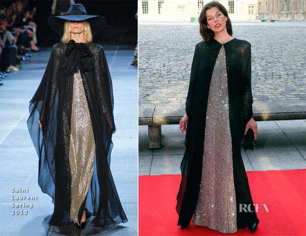 Milla Jovovich In Saint Laurent  - 'Liaisons Au Louvre III' Charity Gala Dinner