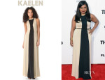 Mindy Kaling's Kaelen High Neck Gown