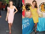 Miranda Kerr In Herve Leger and Reem Acra - Gillette Venus Goddess Experience