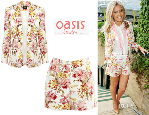 Mollie King Oasis Floral Short Suits Wimbledon