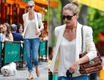 Olivia Palermo In Rebecca Minkoff & Paige Denim - Out In New York City