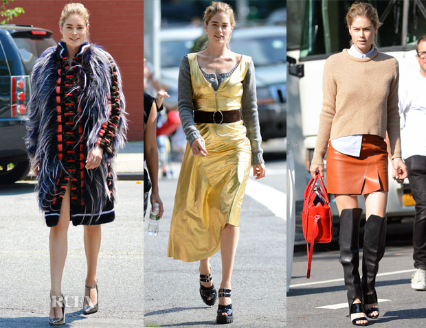 On The Elle Photoshoot With Doutzen Kroes In Fendi, Prada & 31 Phillip Lim