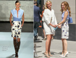 On 'The Other Woman' Set With Leslie Mann In Altuzarra & Cameron Diaz