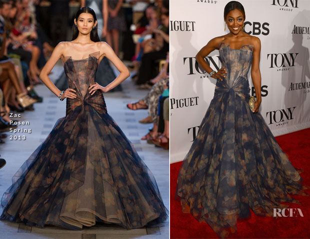 Patina Miller In Zac Posen - 2013 Tony Awards