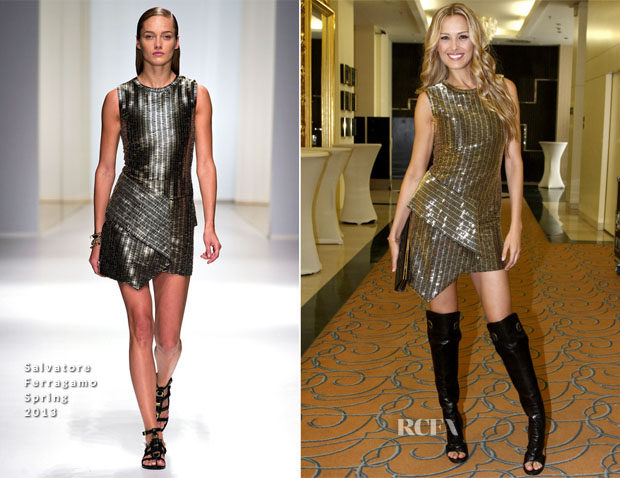 Petra Nemcova In Salvatore Ferragamo – Prague's Fashion Night Out
