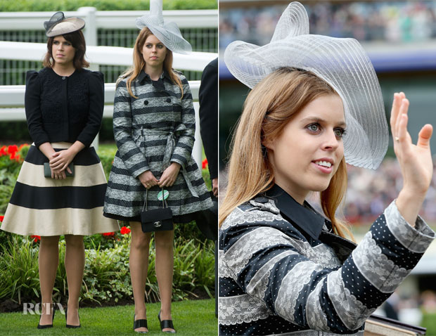 Princess Eugenie & Princess Beatrice In RED Valentino - Royal Ascot