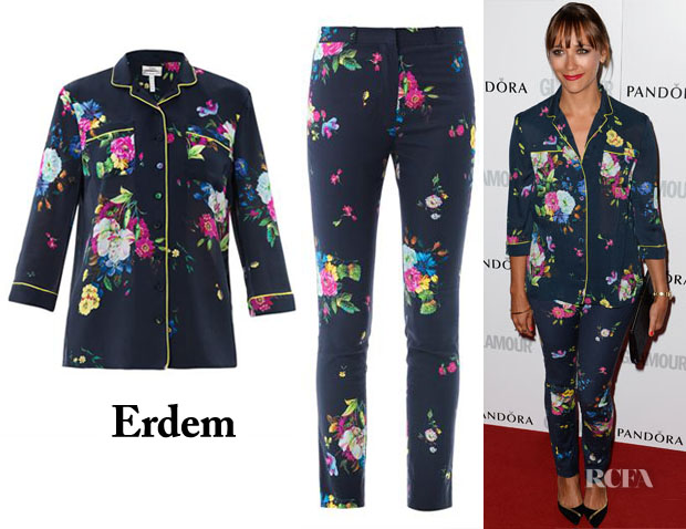 Rashida Jones' Erdem Floral-Print Blouse & Pants