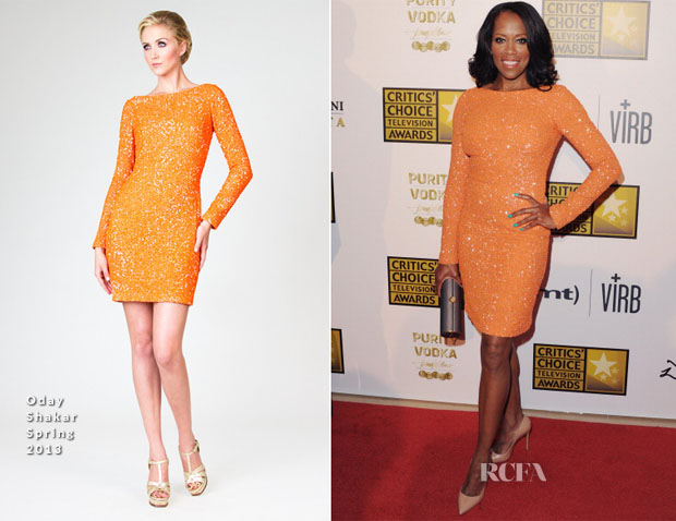 Regina King In Oday Shakar - 2013 Critics' Choice Television Awards