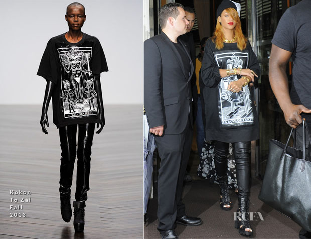 Rihanna In Kokon To Zai - Out In London