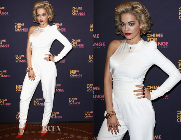 Rita Ora In Alexandre Vauthier - 'Chime For Change The Sound Of Change Live' Media Room