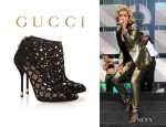 Rita Ora's Gucci Studded Suede Cage Sandals