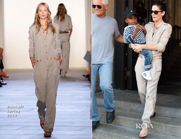 Sandra Bullock In Belstaff - Out In Berlin