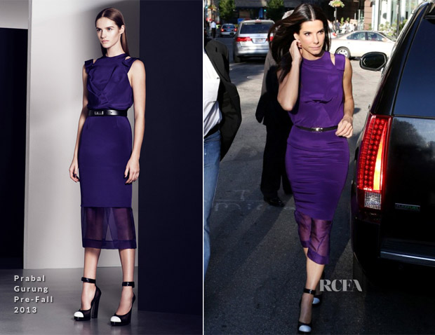 Sandra Bullock In Prabal Gurung - 'The Heat' Boston Premiere