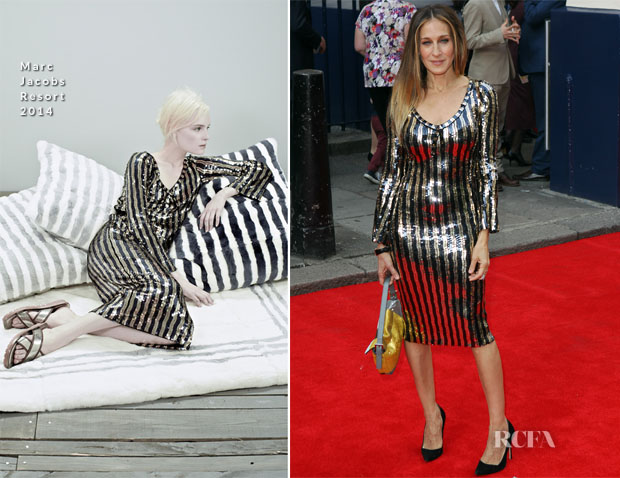 Sarah Jessica Parker In Marc Jacobs - Charlie And The Chocolate Factory Press Night