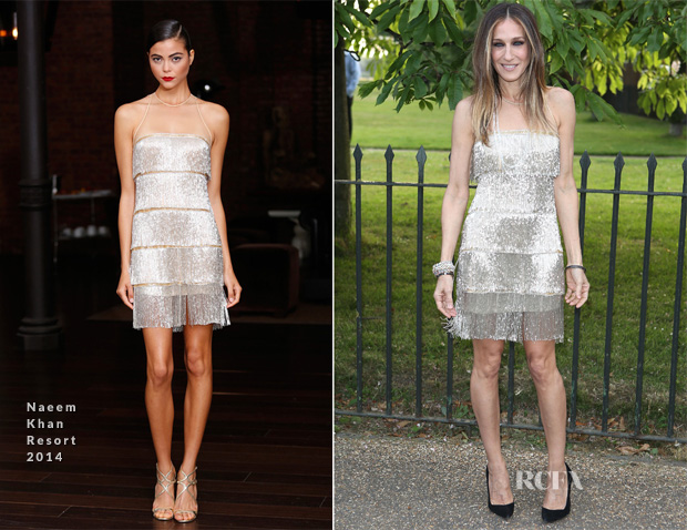 Sarah Jessica Parker In Naeem Khan - The Serpentine Gallery Summer Party