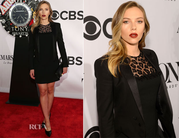 Scarlett Johansson In Saint Laurent - 2013 Tony Awards