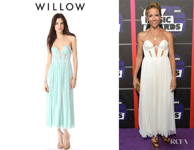 Sheryl Crow's Willow Corset Possession Strapless Gown