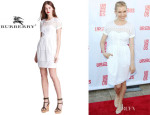 Sienna Miller's Burberry Brit 'Darcelle' Eyelet Dress
