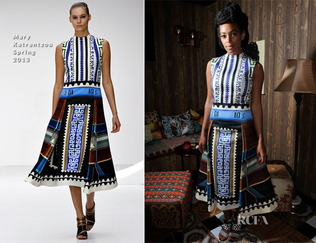 Solange Knowles In Mary Katrantzou - 'Better Days' Art Basel Performance