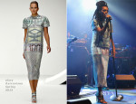 Solange Knowles In Mary Katrantzou - Superjam at That Tent