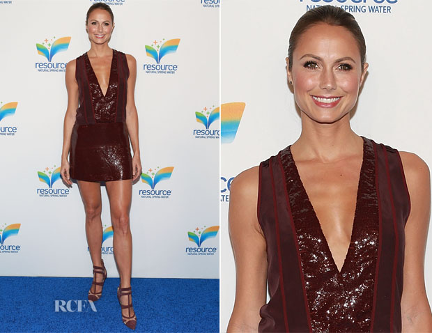 Stacy Keibler In Diane von Furstenberg - Natural Spring Water Resource Launch Event