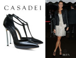 Stacy Keibler's Casadei 'Softymetal' Pointed Toe Pumps