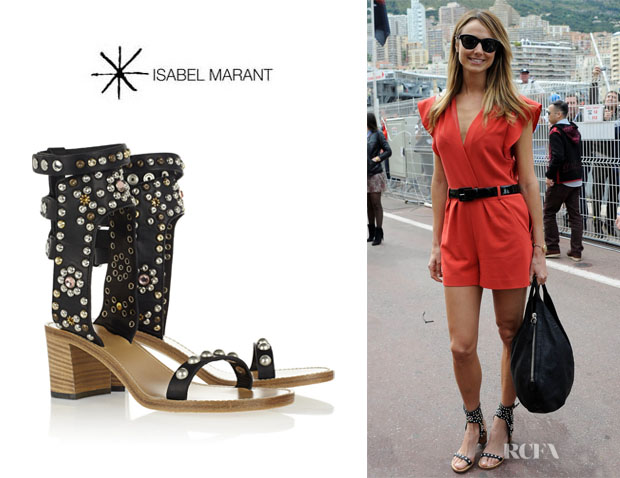 Stacy Keibler's Isabel Marant 'Elvis' Studded Sandals