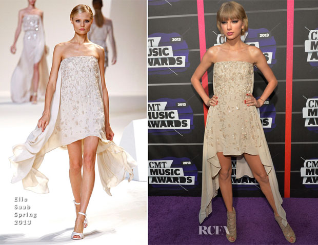 Taylor Swift In Elie Saab - 2013 CMT Music Awards