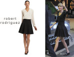 Taylor Swift's Robert Rodriguez Seamed Fit and Flare Skirt