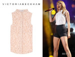 Taylor Swift's Victoria Beckham Sleeveless Lace Blouse