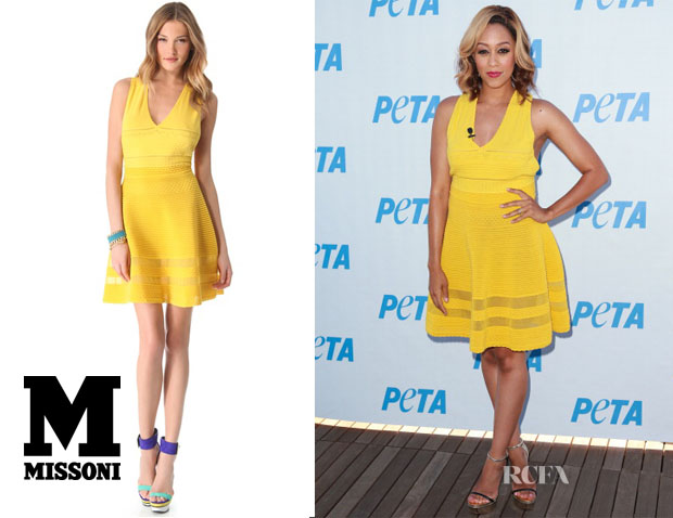 Tia Mowry's M Missoni V Neck Dress