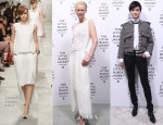 Tilda Swinton & Li Yuchun In Chanel - Chanel's 'The Little Black Jacket' Exhibition